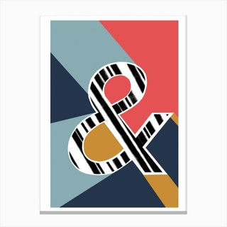 And Ampersand Geometric Font Canvas Print