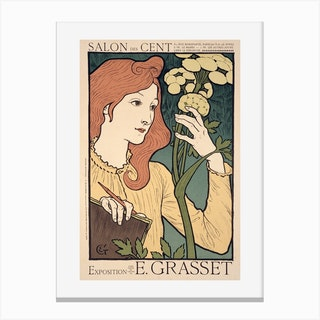 Exhibition Of Work By Eugene Grasset, At The Salon Des Cent Canvas Print