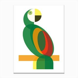 Geometric Parrot Canvas Print