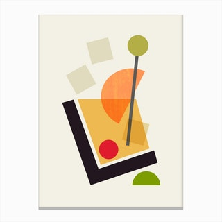 Cocktail III Old Fashioned Canvas Print