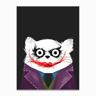 Cat Joker Canvas Print