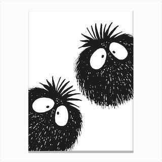 Peekaboo Couple 2 Canvas Print