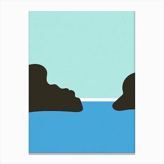 Beach Abstract Calm Water Canvas Print
