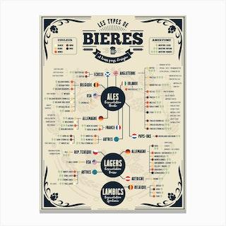 Types De Bieres Dans Le Monde Canvas Print
