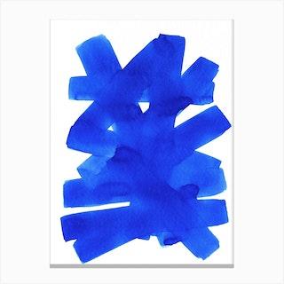 Superwatercolor Blue Canvas Print