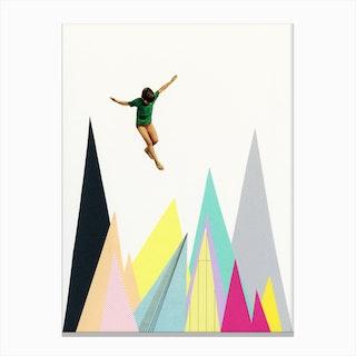 Mountain Jump Canvas Print