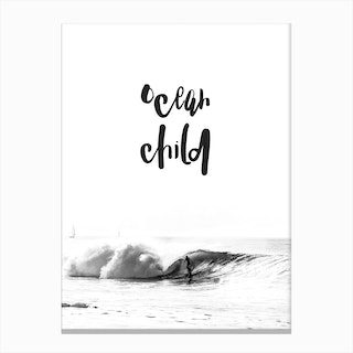 Ocean Child Canvas Print
