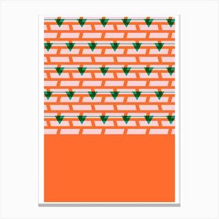 Shoreditch Shutters Orange Canvas Print