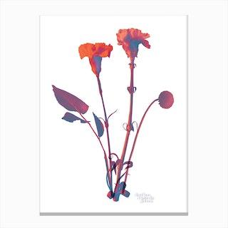 Ode aux Fleurs Orange Canvas Print