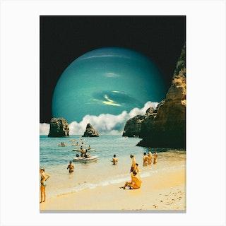 Space Beach Canvas Print
