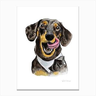 Smart Sausage Canvas Print