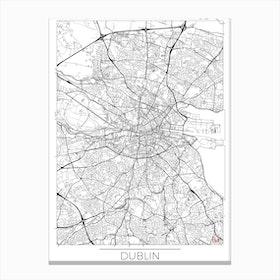 Dublin Map Minimal Canvas Print