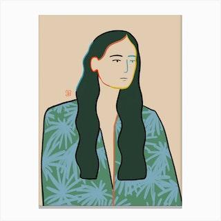 Girl In Love Canvas Print