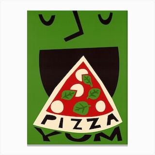 Yum Pizza Canvas Print