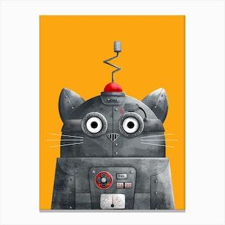 Cat Robot Canvas Print