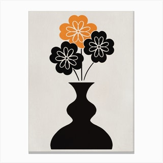 Triple Flower Canvas Print