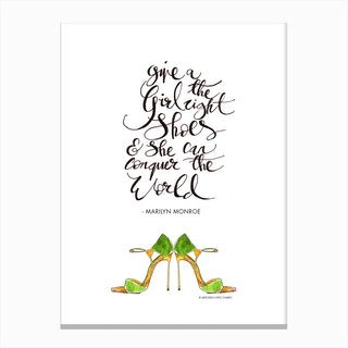 Give a Girl Canvas Print
