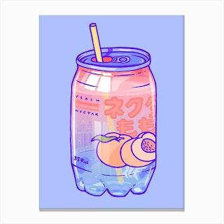 Peach Soda Canvas Print