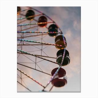 The Ferris Wheel At Sunset Canvas Print