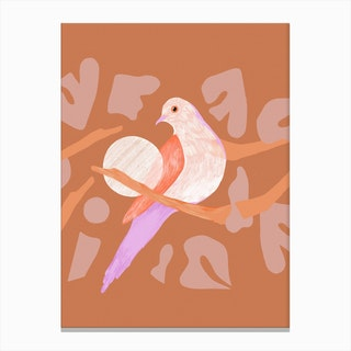Birdy On The Perch Canvas Print