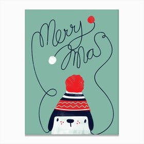 Christmas Cap Canvas Print
