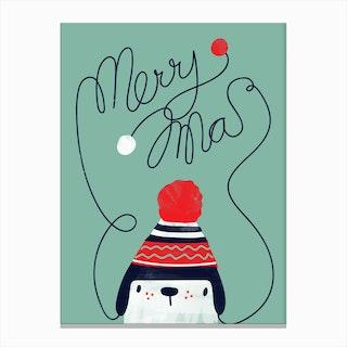 Christmas Cap Canvas Print