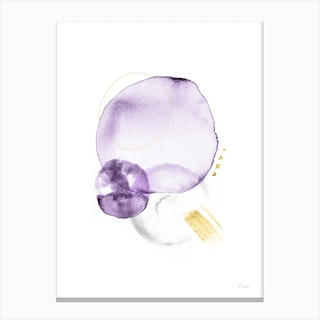 Turns In Violet Grey And Gold Canvas Print