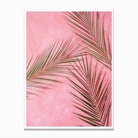 Pink Plants Canvas Print