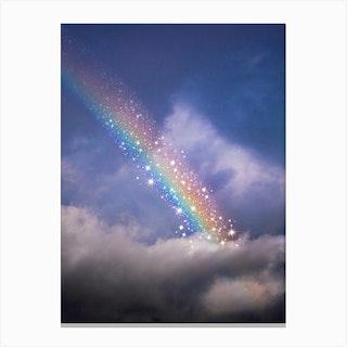 Rainbow In Glitter Canvas Print