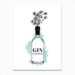 Gin Oclock Canvas Print