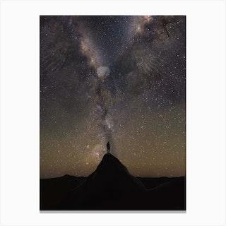 Lone Eagle Galaxy Canvas Print