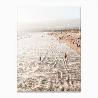 Santa Monica Beach California Canvas Print