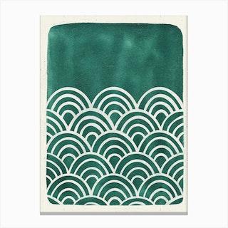 Scallop Teal Canvas Print