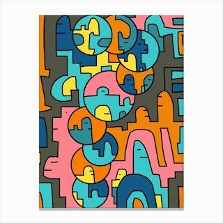 Bubble City Canvas Print