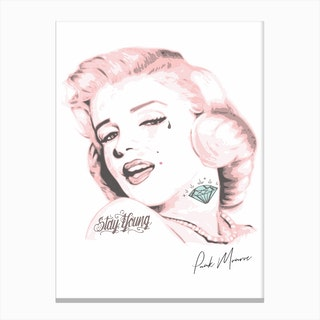 Pink Punk Monroe Canvas Print