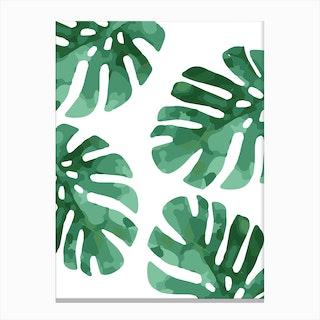 Monstera Pattern Canvas Print