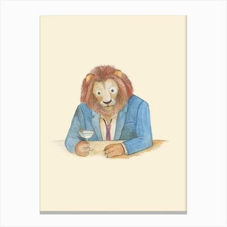 Lion And Gibson Canvas Print