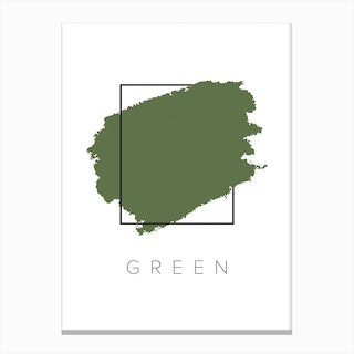 Green Color Box Canvas Print