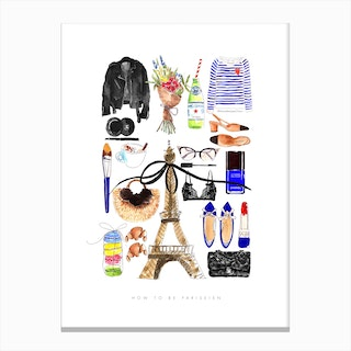 How To Be Parisien Canvas Print