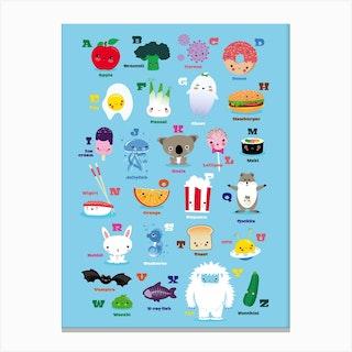 Nursery Kawaii Abc Canvas Print