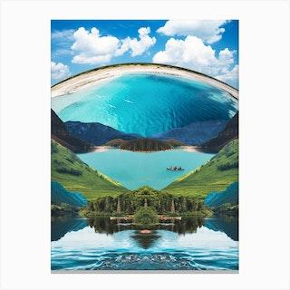 Lagoon Blue Canvas Print