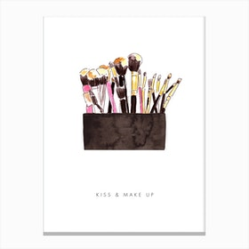 Kiss And Make Up Canvas Print