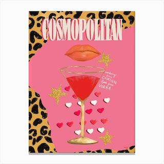 Cocktail Collection Cosmopolitan Canvas Print
