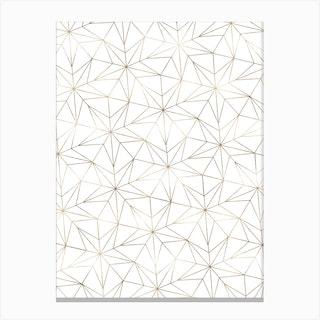 Stars Geometric Gold Canvas Print