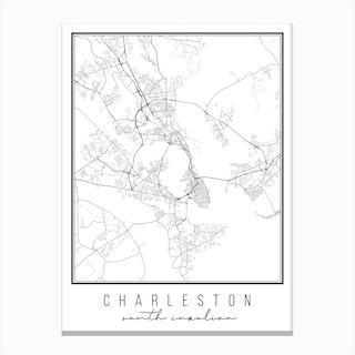Charleston South Carolina Street Map Canvas Print
