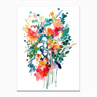 Big Bouquet Canvas Print