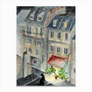 Rue Neige Canvas Print
