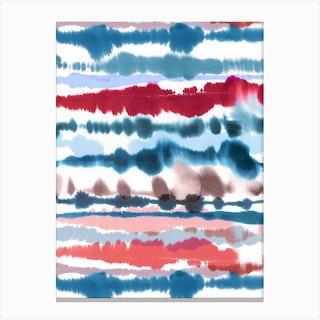 Soft Nautical Watercolor Lines Canvas Print
