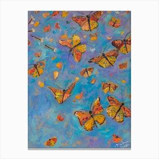 Monarch Butterfly Artwork Migration Canvas Print