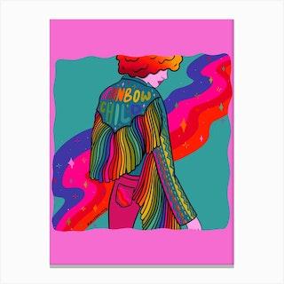 Rainbow Child Canvas Print